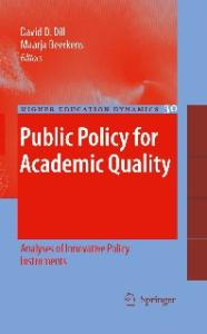 Public Policy for Academic Quality: Analyses of Innovative Policy Instruments