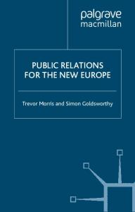 Public Relations for the New Europe