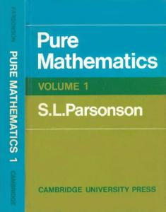 Pure Mathematics 1 (v. 1)