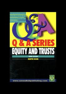 Q&A Equity and Trusts 3rd edn (Q&A Series)