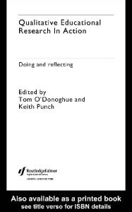 Qualitative Educational Research in Action: Doing and Reflecting