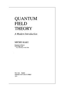 Quantum field theory: a modern introduction