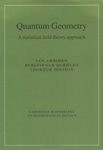 Quantum Geometry: A Statistical Field Theory Approach
