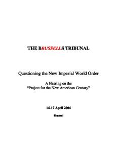 Questioning the New Imperial World Order