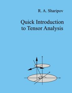 Quick Introduction to Tensor Analysis