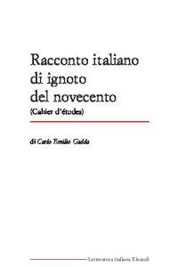 Racconto italiano di ignoto del novecento