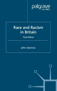Race and Racism in Britain, Third Edition
