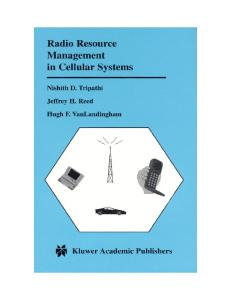Radio resource management in cellular systems