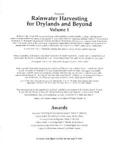 Rainwater Harvesting for Drylands Volume 1: Guiding Principles to Welcome Rain into Your Life And Landscape