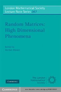 Random matrices, high dimensional phenomena