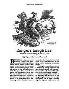 Rangers Laugh Last
