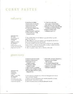 Recipe - Thai Curries