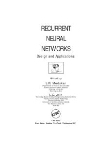 Recurrent Neural Networks: Design and Applications