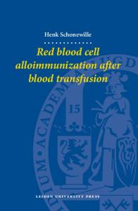 Red Blood Cell Alloimmunization after Blood Transfusion (LUP Dissertations)