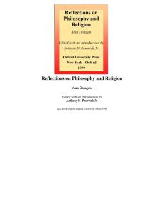 Reflections on Philosophy and Religion