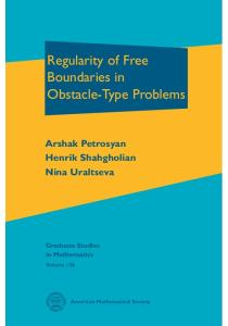 Regularity of Free Boundaries in Obstacle-type Problems,  GSM 136
