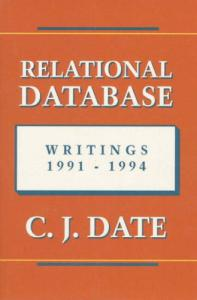 Relational Database Writings 1991-1994