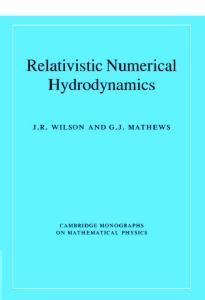 Relativistic Numerical Hydrodynamics (Cambridge Monographs on Mathematical Physics)