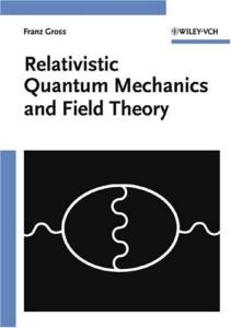 Relativistic quantum mechanics and field theory