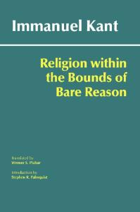 Religion Within the Bounds of Bare Reason