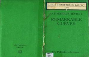 Remarkable Curves (Little Mathematics Library)