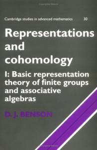 Representations and cohomology. - Basic representation theory of finite groups