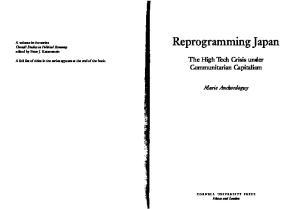 Reprogramming Japan: The High Tech Crisis under Communitarian Capitalism