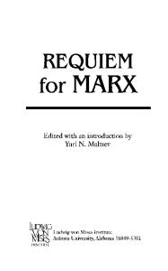 Requiem for Marx