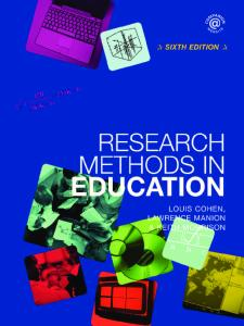 Research Methods in Education - 6e
