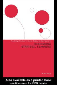 Rethinking Strategic Learning (Routledge Studies in Human Resource Development)
