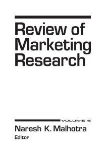 Review of Marketing Research, Sixth Edition