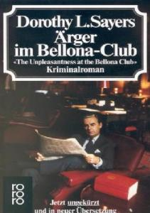 Ärger im Bellona - Club. 'The Unpleasantness at the Bellona Club'