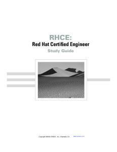 RHCE Red Hat Certified Engineer Study Guide Exam RH302