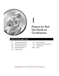 Hands-on Guide to the Red Hat® Exams: RHCSA™ and RHCE® Cert