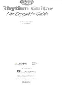 Rhythm Guitar - Complete Guide