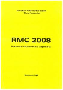 RMC 2008-Rumanian mathematical competitions