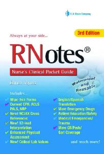 Rnotes: Nurse's Clinical Pocket Guide, Third Edition