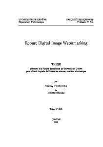 Robust Digital Image Watermarking