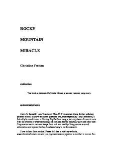 Rocky Mountain Miracle