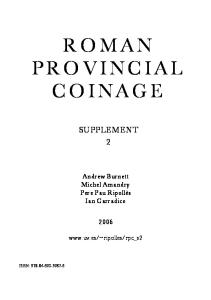 Roman Provincial Coinage, Supplement 2