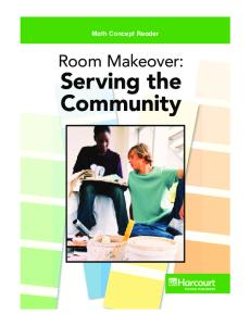 Room Makeover: Serving the Community (Math Concept Reader, grade 6)