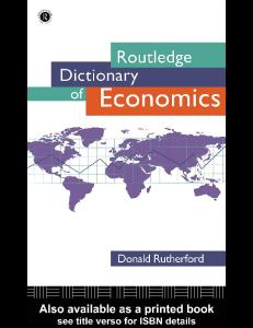 Routledge dictionary of economics pdf free download fandeluxe Gallery