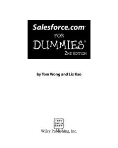 Salesforce.com For Dummies (For Dummies (Lifestyles Paperback))