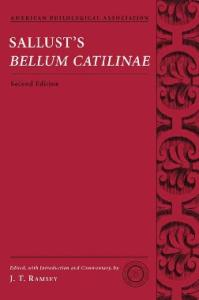 Sallust's Bellum Catilinae (American Philological Association Classical Texts With Commentary Series)