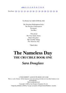 Sara Douglass - The Nameless Day