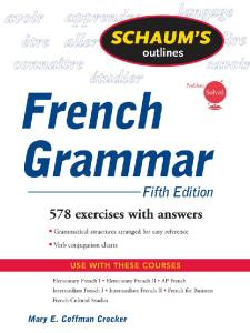Schaum's Outline of French Grammar, 5ed (Schaum's Outline Series)