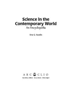 Science in the Contemporary World An Encyclopedia