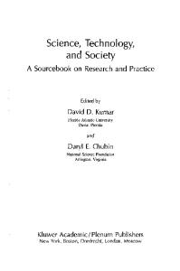 Science, Technology, and Society Education A Sourcebook on Research and Practice (Innovations in Science Education and Technology)