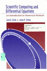 Scientific Computing and Differential Equations