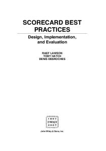 Scorecard Best Practices: Design, Implementation, and Evaluation